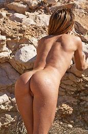 Penelope Nude on Hot Rocks