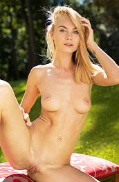 Nancy A Naked in a Big Backyard