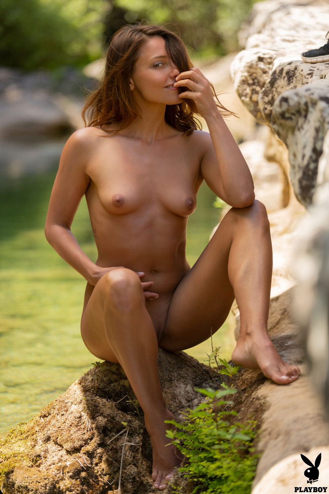 Anetta Keys Naked in Nature