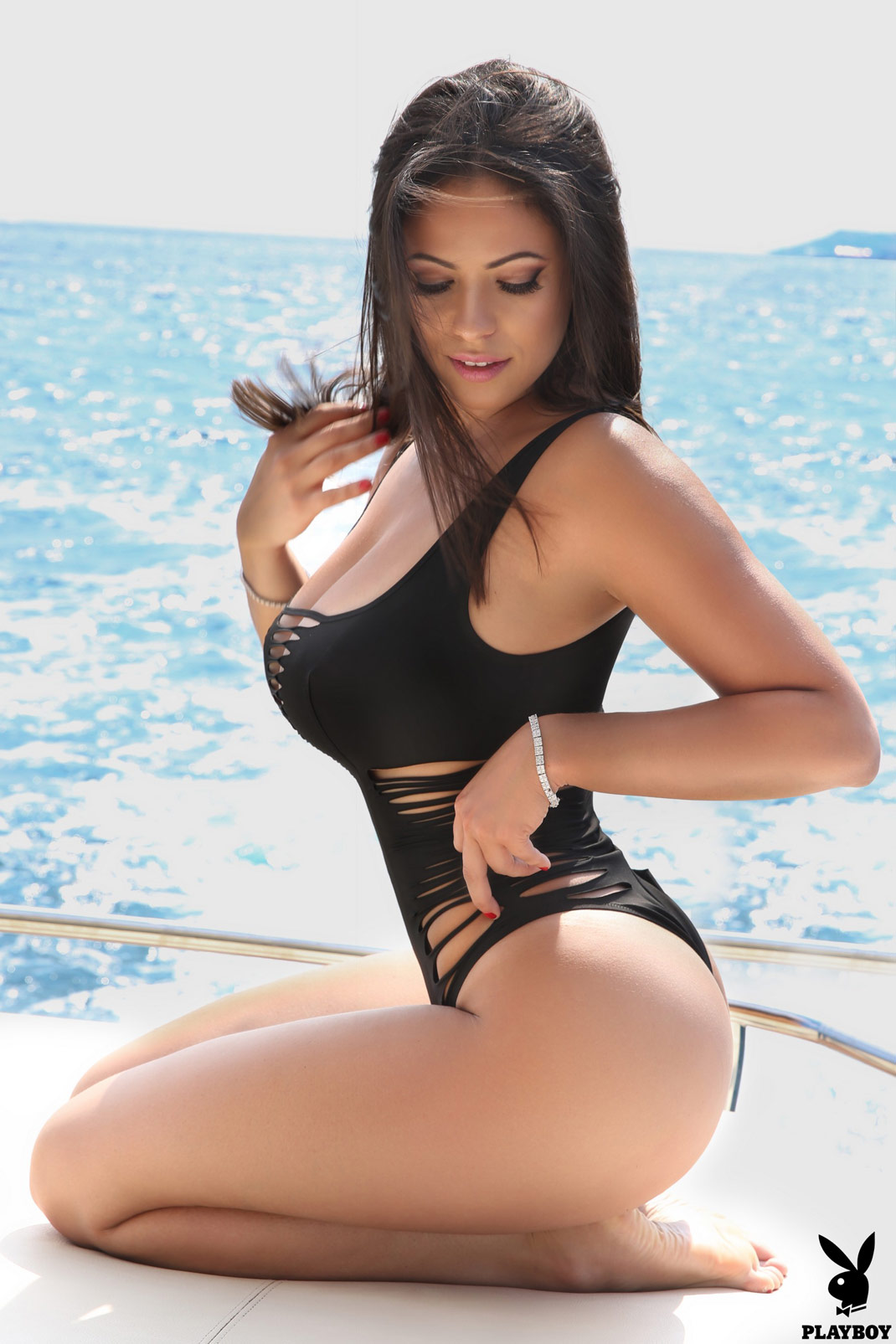 Fabiana Britto Naked on a Boat