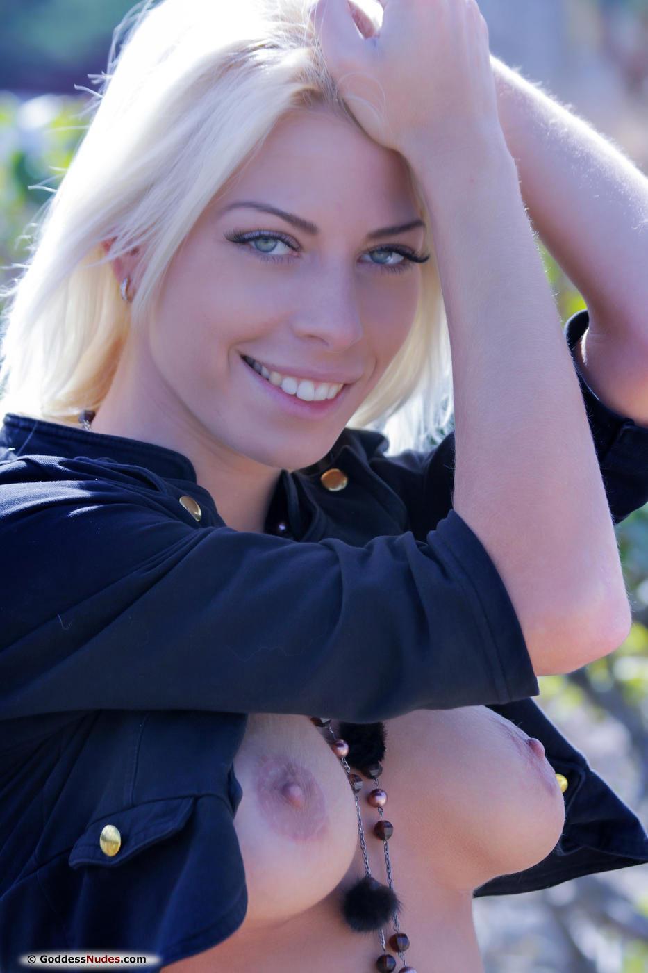Lean Busty Vasilisga Posing Outdoors-4254