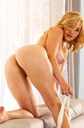 MK Blondie Strips off her Underwear