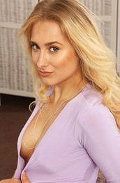 Amy K Leggy Blonde in Stockings