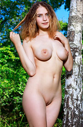 Dakota Pink Busty Ginger Outdoors