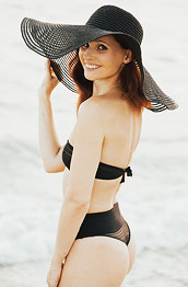Jeny Smith at the Beach