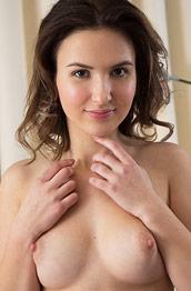 Laina Shows Hairy Pussy