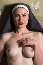 Judith Able Hot Nun Strips Naked
