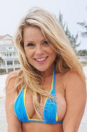 Madden in a Cute Blue Bikini