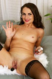 Alice Jensen Toying in Stockings