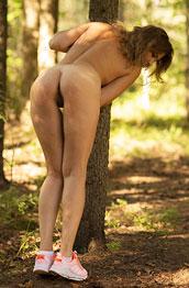 Kristin Naked Girl in Nature