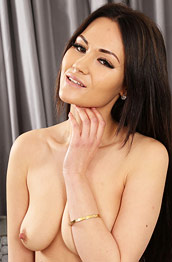 Daisy Rose Topless in Black Pantyhose
