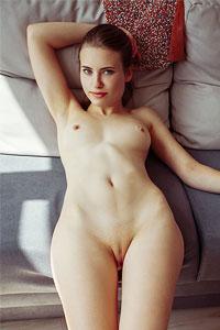 Alaine In White Underwear